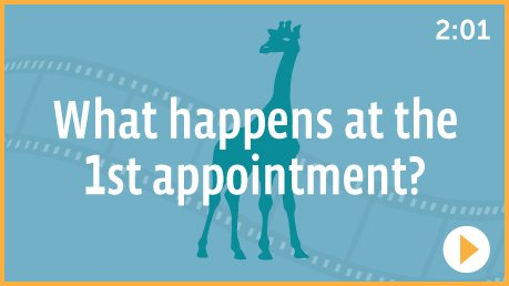 What happens at the 1st appointment?