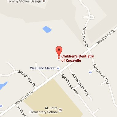 Knoxville pediatric dentist map