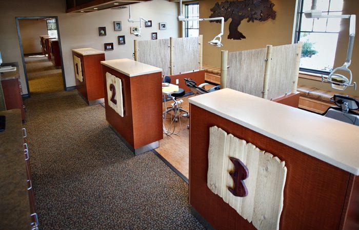 Children's dental exam room