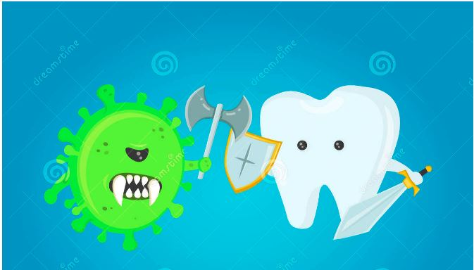 Tooth vs plaque